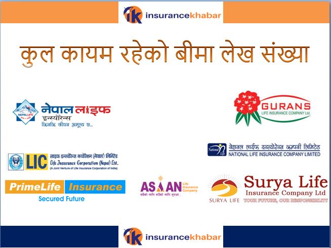 बीमा लेख सङ्ख्याको आधारमा नेपाल लाईफ इन्स्योरेन्सको अग्रता ! कसको कति ?