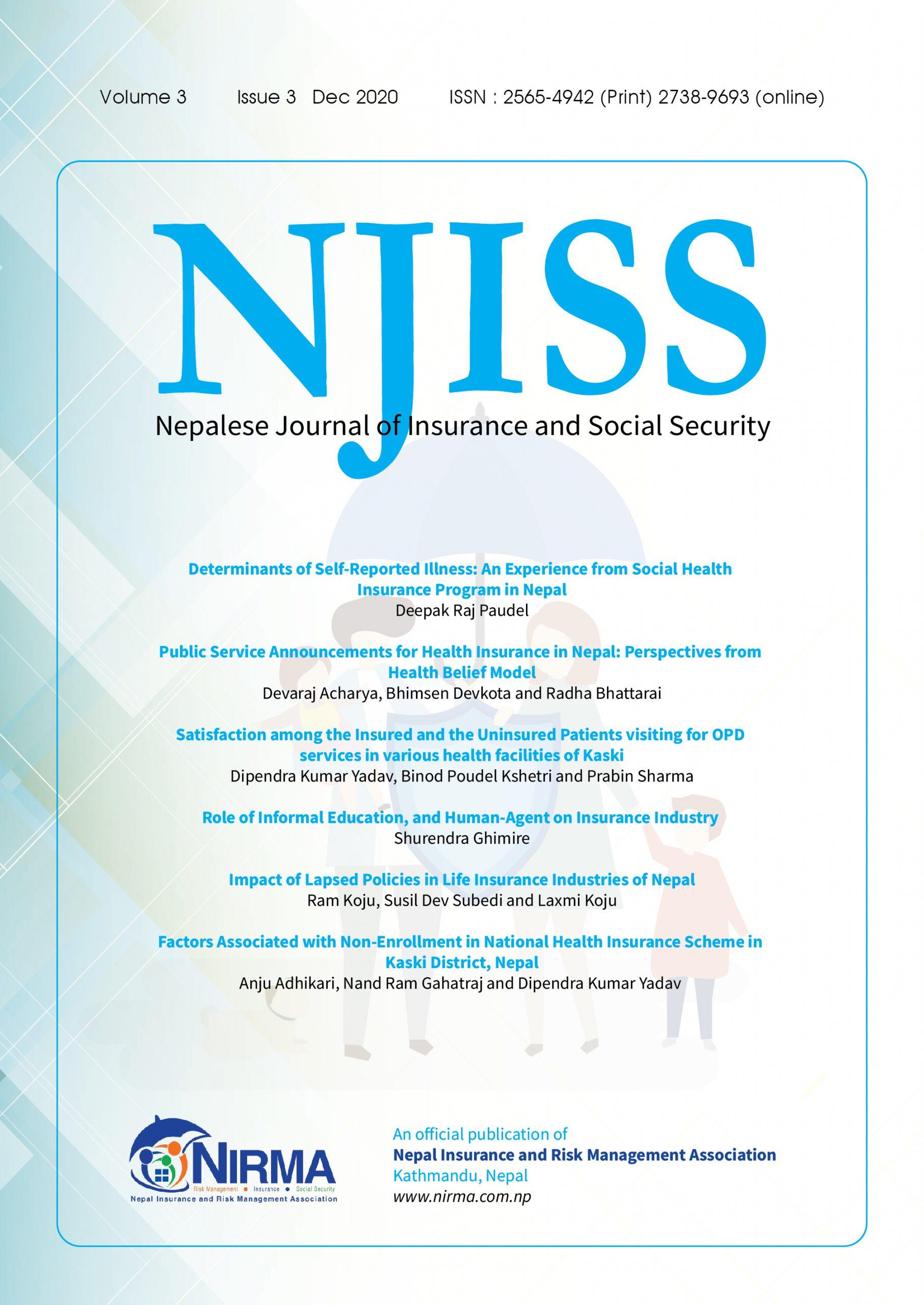 नेप्लिज जर्नल अफ इन्स्योरेन्स एण्ड सोसल सेक्युरिटिको तेस्रो अंक प्रकाशित
